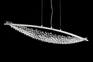 LED-Hängeleuchte Amaca mit Swarovski