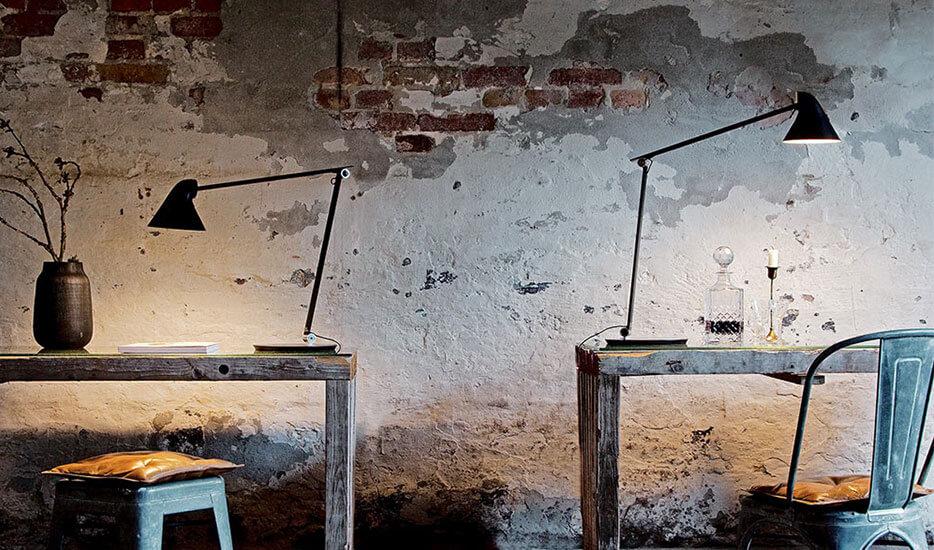 Louis Poulsen NJP LED-Tischleuchte mit Fuss