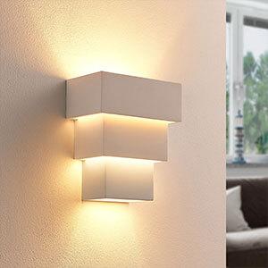 Antonella - effektvolle LED-Wandlampe aus Gips