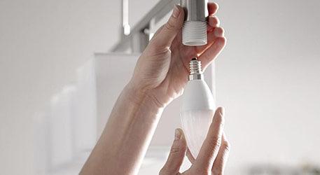 E14 Leuchtmittel in Hängeleuchte