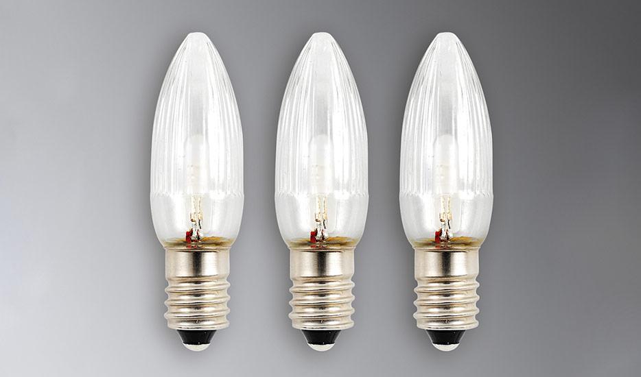E10 0,12W 6V Ersatzlampen 3er Pack