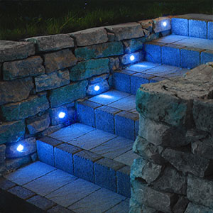 10er-Set LED Einbauleuchten Cosas blau