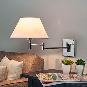 Elegante Stoffwandlampe Salmina