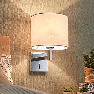 Stoff-Wandlampe Taron mit Schalter