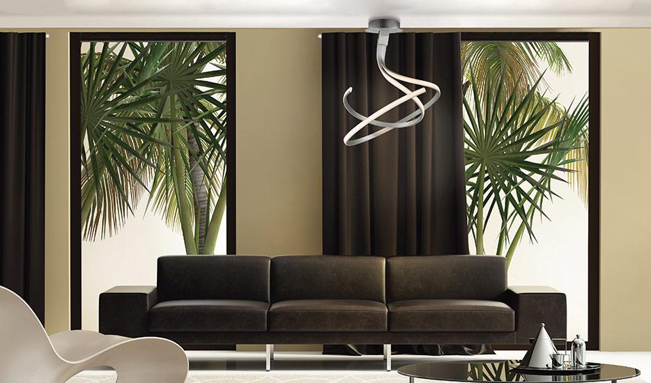 Schwungvolle LED-Hängeleuchte Nur