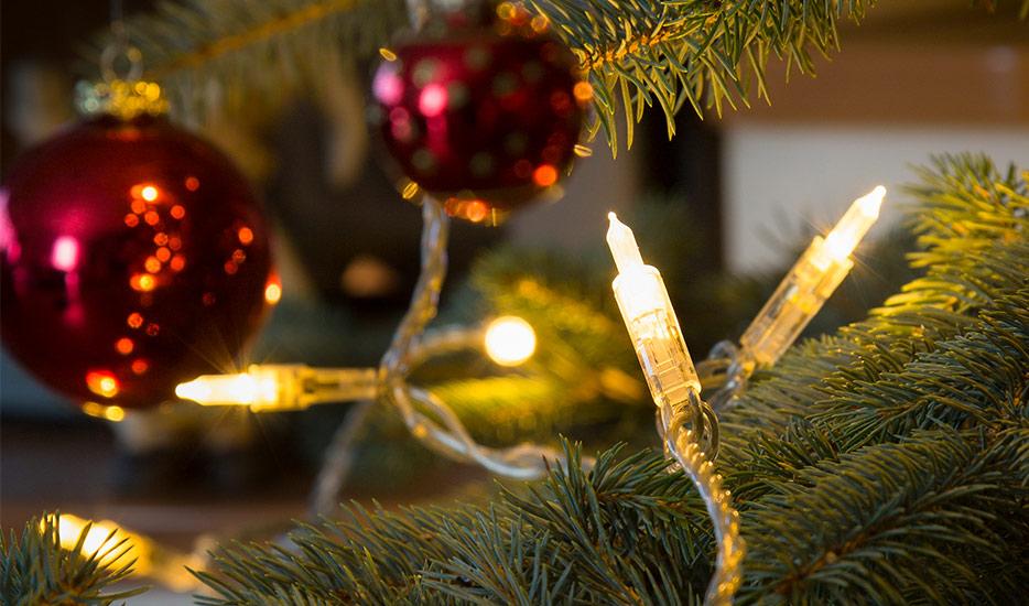 Warmweiss leuchtende LED-Lichterkette Mini 20-flg.