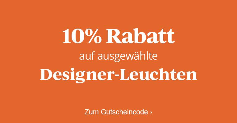 10 % Rabatt auf ausgewählte Designerleuchten